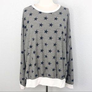 Fantastic Fawn Star Print Pullover Sweater Medium